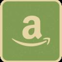 Vintage Retro Style Amazon Icon