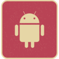 Vintage Retro Style Android Icon