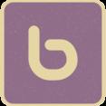 Vintage Retro Style Bing Icon