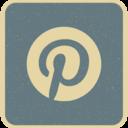 Vintage Retro Style Pinterest Icon