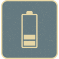 Retro Style Battery with 2 Stripes Icon