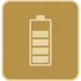 Retro Style Battery with 4 Stripes Icon