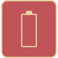 Retro Style Empty Battery Icon