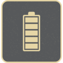 Retro Style Striped Charged Battery Icon