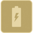 Retro Style Filled Charging Battery Icon