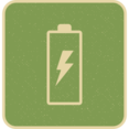 Retro Style Charging Battery Icon