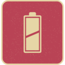 Retro Style Diagonal Full Battery Icon