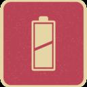 Retro Style Diagonal Full Battery Icon