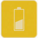 Retro Style Half Charged Battery Icon