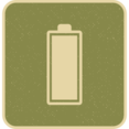 Retro Style Solid Full Battery Icon