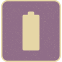 Retro Style Solid Charged Battery Icon