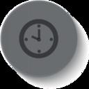 Button Style Clock Icon