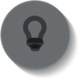 Button Style Lightbulb Icon