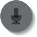 Button Style Microphone Icon