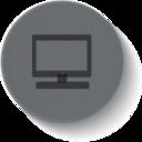 Button Style Desktop Computer Icon