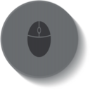 Button Style Computer Mouse Icon