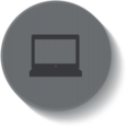 Button Style Laptop Computer Icon