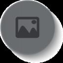 Button Style Photograph Icon