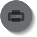 Button Style Printer Icon