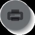 Button Style Printer Icon