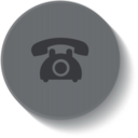 Button Style Vintage Rotary Telephone Icon