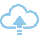 Up Arrow Cloud Computing Vector Icon