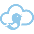 Bird Cloud Computing Vector Icon