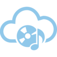 CD Musicnote Cloud Computing Vector Icon