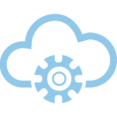 Gear Cloud Computing Vector Icon