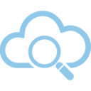 Magnifying Glass Cloud Computing Vector Icon