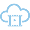 Movie Clip Cloud Computing Vector Icon