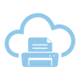 Printer Cloud Computing Vector Icon
