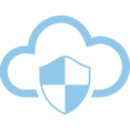 Shield Cloud Computing Vector Icon