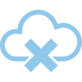 X Mark Cloud Computing Vector Icon