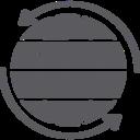 Globe World with Round Arrows Icon