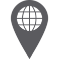 Map Pointer with Globe Icon