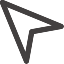 Outlined Arrow Pointer Icon
