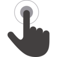 Hand Finger Pointer Icon with Dot and Circle