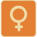 Flat Female Symbol Icon