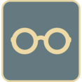 Flat Glasses Icon