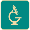 Flat Microscope Icon