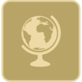 Flat World Globe Icon