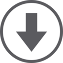 Down Arrow in Circle Icon