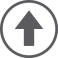 Up Arrow in Circle Icon