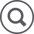 Magnifying Glass in Circle Icon