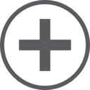 Plus Sign in Circle Icon