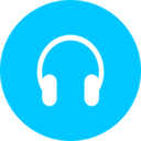 Flat Headphones Icon