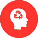 Flat Recycle Icon