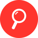 Flat Magnifying Glass Icon