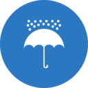Flat Umbrella Icon